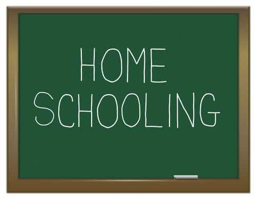 homeschool written on chalkboard