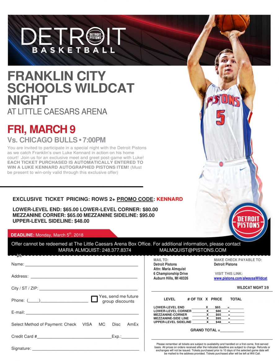 Franklin Night with Detroit Pistons
